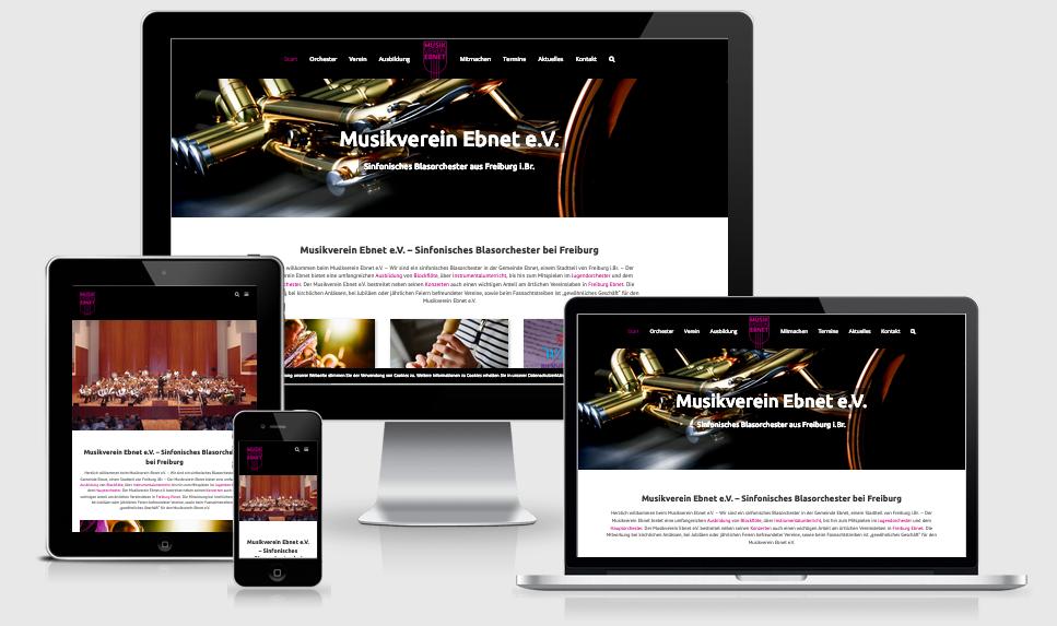 Neue Webseite des Musikverein Ebnet e.V.