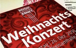 Weihnachtskonzert 2016 des Musikverein Ebnet e.V.