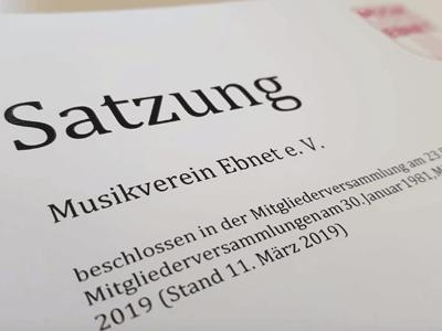 Satzung des Musikverein Ebnet e.V.