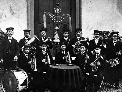 Die Gründungsbesetzung des Musikverein Ebnet e.V.